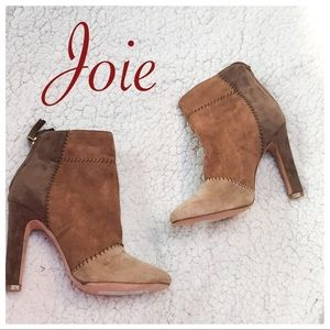 NWT Joie patchwork neutral boots